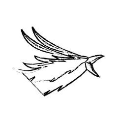 phoenix head bird mythological magic image vector image