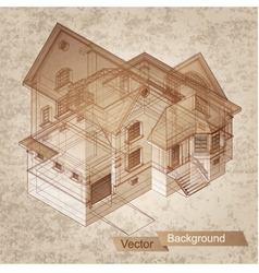 Architectural building model vector image