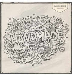 Handmade hand lettering and doodles elements vector image