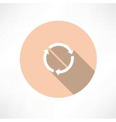 refresh circle cycle arrow signs icon vector image