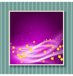 stars flying background vector image vector image