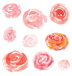 Watercolor flowers floral collection vector