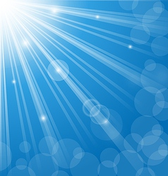 Abstract blue background with lens flare vector image vector image