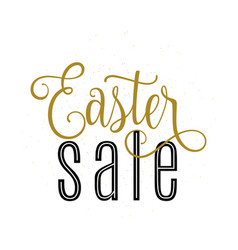 Easter sale banner template vector