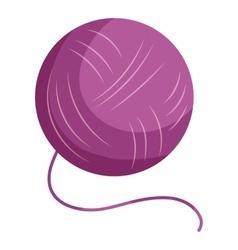 Purple yarn ball icon cartoon style vector image