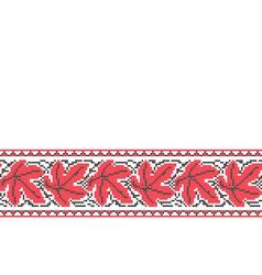 Ukrainian seamless ornament vector image