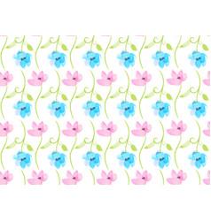 vintage watercolor flower seamless pattern vector image vector image