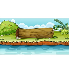 A trunk lying in the ground vector image