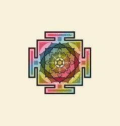bagalamukhi yantra tibetan colorful mandala vector image