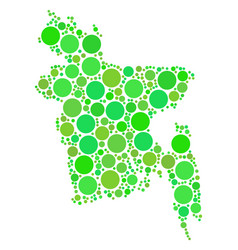 bangladesh map mosaic of dots vector image