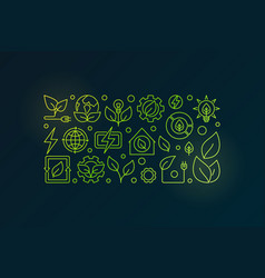 bioenergy outline vector image