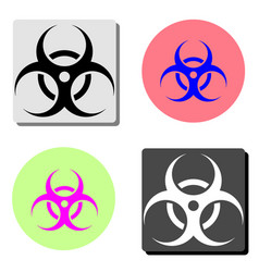 biological hazard flat icon vector image