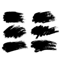 Black paint ink brush stroke brush line vector