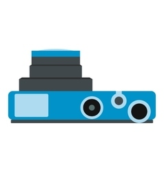 Blue camera flat icon vector