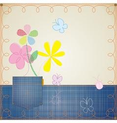 blue jeans frame vector image