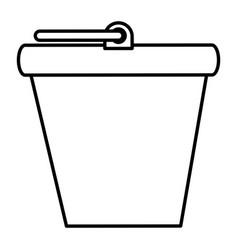 bucket pot isolated icon vector image