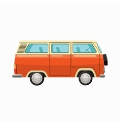 Bus icon cartoon style vector
