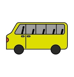 bus vehicle transport isolated icon vector image
