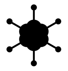 Business network the black color icon vector