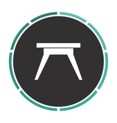 Camping table computer symbol vector