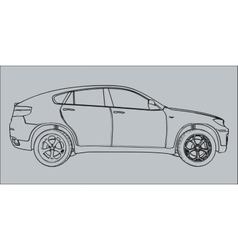 Car silhouette on a gray background vector