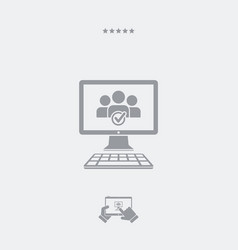 check tag people icon vector image