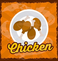 chicken meat design vector image