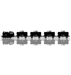 classic tank steam train vector image