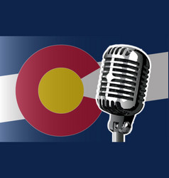 Colorado flag and microphone vector