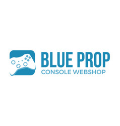 Console and gaming webshop logo vector