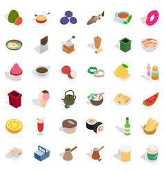 Cookery icons set isometric style vector