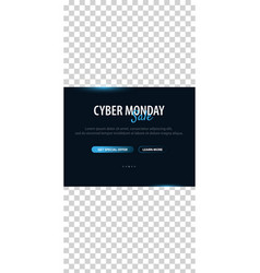 Cyber monday sale stories for instagram pack for vector