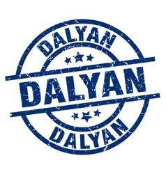 Dalyan blue round grunge stamp vector
