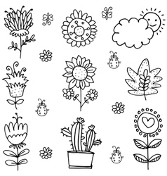 Doodle of spring item hand draw vector