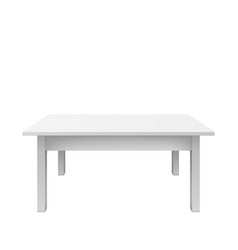 empty white table design plastic teble isolated vector image