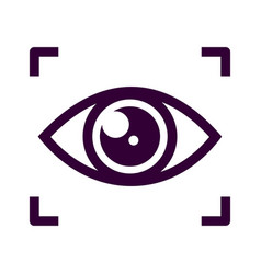 eye scan icon isolated on white background from vector image