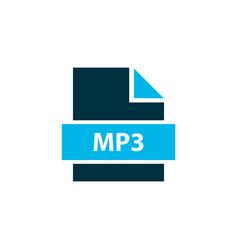 File mp3 icon colored symbol premium quality vector