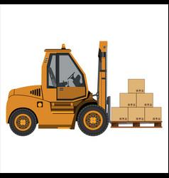 Fork lift truck vector