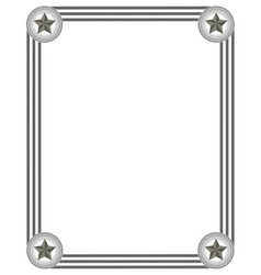 Frame in grey colours vector