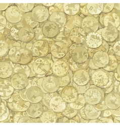 Golden coins texture vector