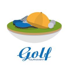 golf club sport vector image