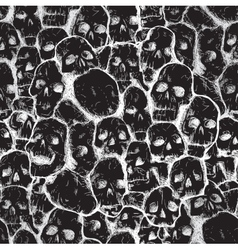 grungy skull pattern vector image