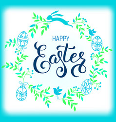 Happy easter composition vector