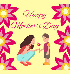Happy mothers day poster vector