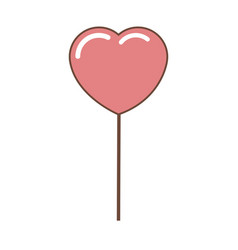 Heart pink balloon party decoration for event vector
