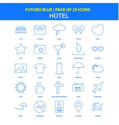 Hotel icons - futuro blue 25 icon pack vector
