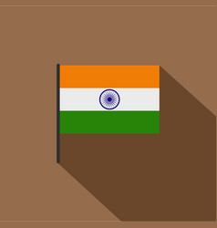 Indian flag icon flat style vector