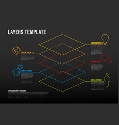 Infographic layers template vector