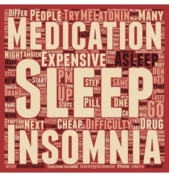 Insomnia text background wordcloud concept vector