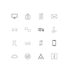 internet of things linear thin icons set outlined vector image